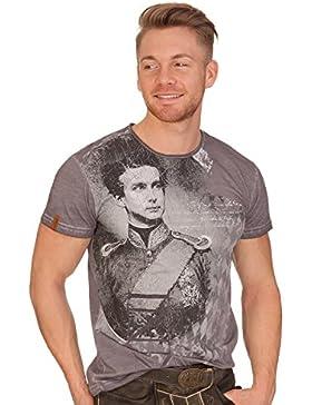 MarJo Trachten Herren Shirt - WIGGERL - Grau