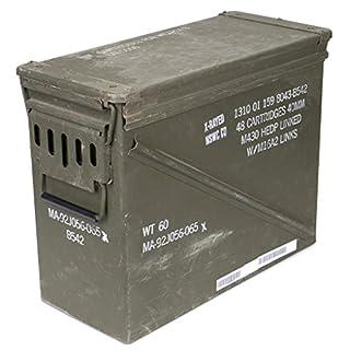 Original US Army For Cartridges Metal Box Mun Box Container Box Massive Dirty Ammunition Box Size 7