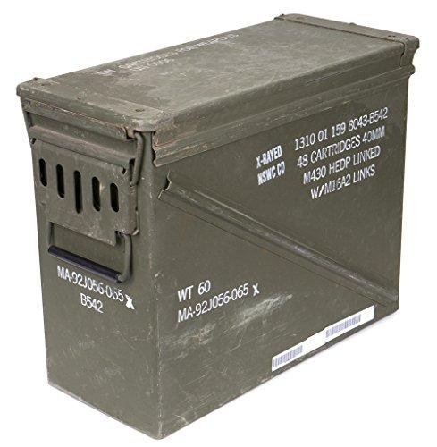 Originale massive gebrauchte Munitionskiste Größe 7 der U.S. Army für Patronen Metallkiste Mun-Kiste Behälter Metallbox