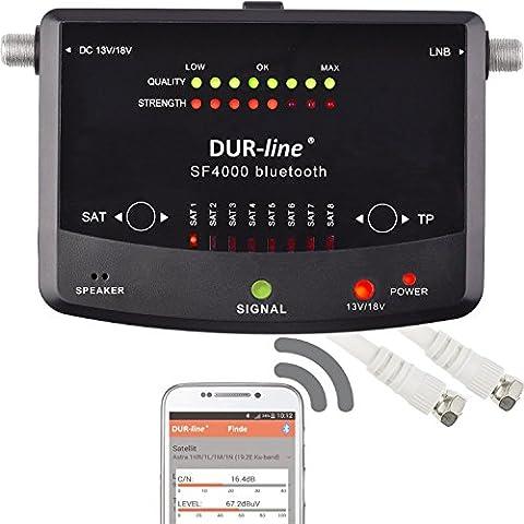 NOVEDAD! Digital Easy buscador sat. SF 4000 BT con 8 antes conjunto SATélites Incl. Smartphone App de Bluetooth para otros Profi Usos [medidor de satélite - DUR-line SF 4000 BT - buscador
