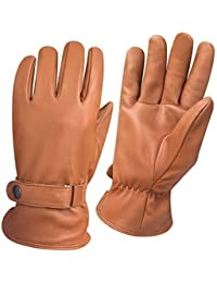 Men's Fashion Driving Gloves Slim Fit Chauffeur Classic Dress Gloves 9901 Tan