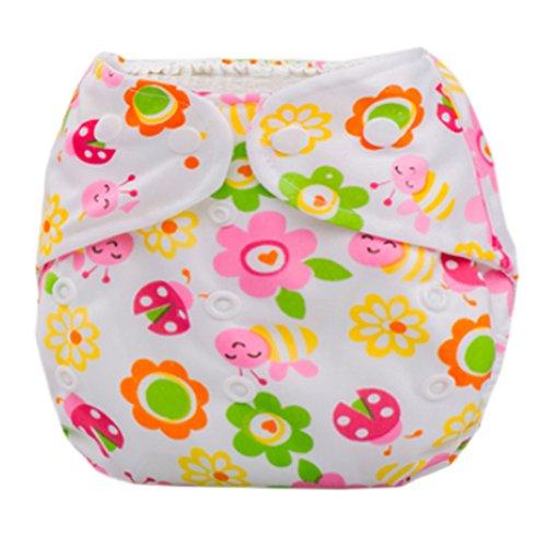 Grille d'été pour bébé avec fermeture à boutons Taille réglable Sun/motifs fleurs