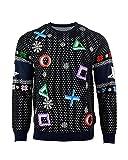 PlayStation Weihnachtspullover Symbols Schwarz Weihnachts Sweatshirt Unisex - 3XL