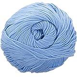 SODIAL(R) 50g Tencel Hilo de algodon de bambu para bebe (Azul claro)