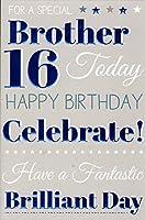 Brother 16th Birthday Birthday Card