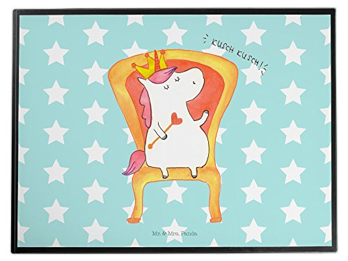 Mr. & Mrs. Panda Schreibtischunterlage Einhorn Prinzessin - 100% handmade in Norddeutschland - Schreibtisch, Geburtstagsgeschenk,...