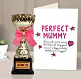 Tied Ribbons Paper Greeting Card with Golden Trophy (15.01 cm x 0.102 cm x 21.99 cm)