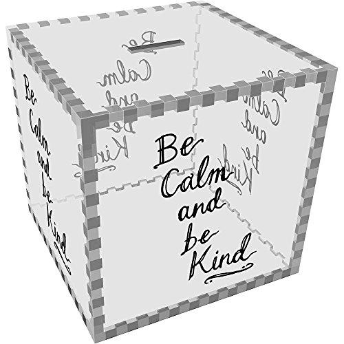 Azeeda Grande 'Be Calm Be Kind' Caja Dinero / Hucha