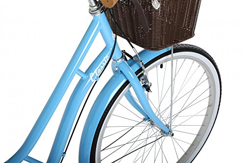 """51z2VZW9sWL - Classic Heritage Ladies 26"""" Wheel 7 Speed 16"""" Traditional Bike Bicycle Blue"""