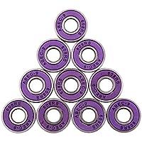Sharplace 10 Piezas ABEC-9 608rs Rodamientos de Ruedas de Patinaje Rodamientos de Bolas Herramientas - Púrpura