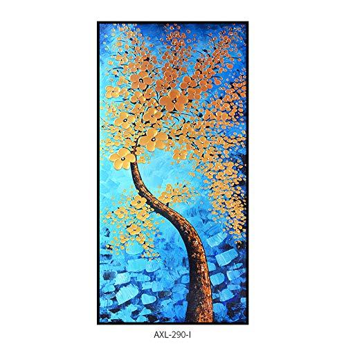 WSNDGWS Pintura Decorativa China Pintada a Mano Pura Árbol de Color Abstracto Árbol de la Fortuna Pintura de decoración del hogar