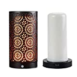 Lampada a fiamma magnetica con sensore di gravità di ricarica USB a lume di candela led simulazione fiamma di candela luce nera