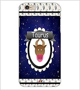PrintDhaba Zodiac Taurus D-2765 Back Case Cover for APPLE IPHONE 6S PLUS (Multi-Coloured)