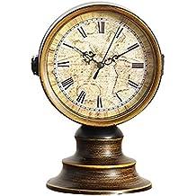 MagiDeal Reloj de Mesa Vintage Antiguo con Doble Lateral para Muebles de Oficina Hogar