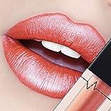 CICIYONER Damen Metall Lippenstift Lip Gloss Liquid Lippe Kosmetik, 24 Farben (08 #)