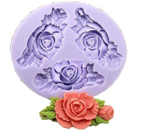 Allforhome 3-6,6cm Mini Flower formbare Silikon Zucker Kunstharz Craft DIY Formen Gum Paste Kuchen dekorieren Fondant Form