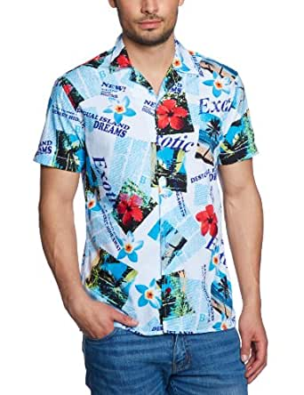 desigual chemise homme multicolore 1000 blanco fr small taille fabricant small. Black Bedroom Furniture Sets. Home Design Ideas