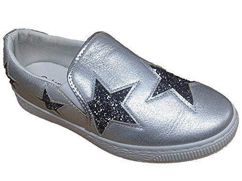 Calzature Affidatarie, Damen Sneaker Silber