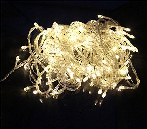 Happyit 4 M 40 LED wasserdichte String Lights Xmas Urlaub Licht Outdoor dekoriert Lampen für Party Hochzeit Garten Weihnachten Fairy (Warmes Weiß) (Schmetterling Und Blume Hängende Decken Dekoration)