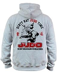 Dirty Ray Arts Martiaux Judo Time Sweat homme avec capuche BDT10