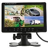 podofo @ 9pulgadas HD 12V 24V Split quad Monitor reposacabezas de coche pantalla 4ch vídeo entrada para Back up cámara camión RV y CCTV sistema de seguridad de vigilancia