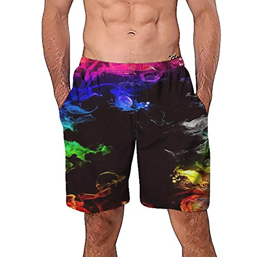 Celucke Herren Badehose Sommer Badeshorts 3D Print Grafik Strand Surf Board Shorts, Sport Urlaub Freizeithose Kurze Hose Regular Fit