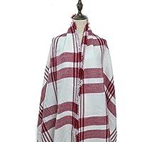 Autunno / Inverno sciarpa autunno inverno sciarpa delle donne oversize nel colore bianco / rosso del MyBeautyworld24 marchio