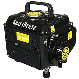 Groupe électrogène à Essence Krafthertz® KH de 1000 Upgraded Version. Portable, 650 W Puissance continue, max. 720 W Puissance 1,2 kW, 63 cm³ Cylindrée, 4,2 L Réservoir, prise de 230 V
