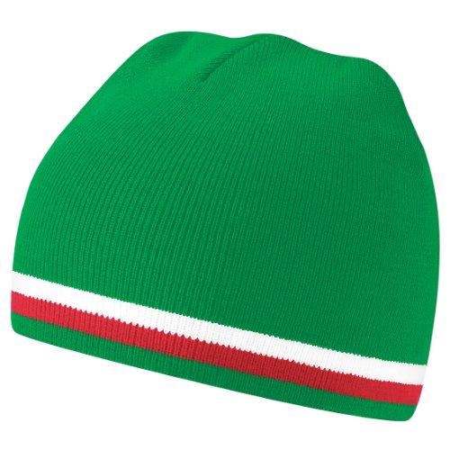 Beechfield - Bonnet coupe du monde - Homme (Taille unique) (Vert/Blanc/Rouge)