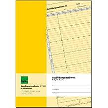 Sigel AW480 Ausbildungsnachweisheft/Berichtsheft für tägliche Eintragungen, A4, 28 Blatt