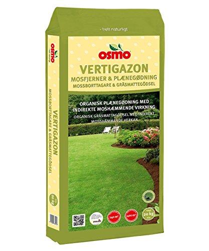OSMO Vertigazon Rasen Langzeitdünger Mit indirekter Anti Moos Wirkung 6-3-20 (6-1-17) 20 kg Keine Moosvernichter mehr nötig