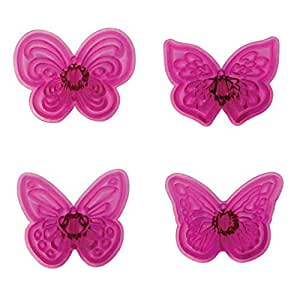 PME Kunststoff Cutter Set 4pc-lacy Schmetterlinge
