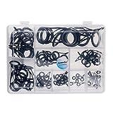 MagiDeal 90 Stücke Edelstahl Angelrute Ring Set Reparatur kit DIY Auge Ringe mit box
