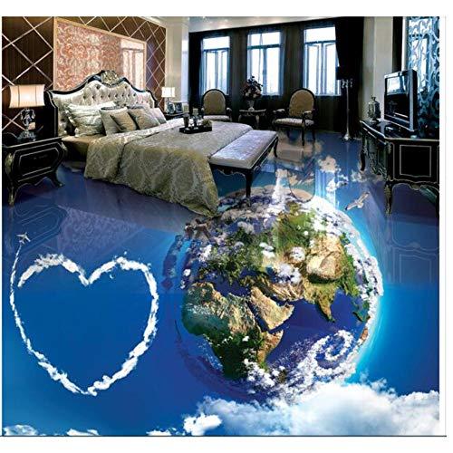 Pbldb 3DBoden Benutzerdefinierte Wandbild Wasserdicht Boden Himmel Weiße Wolken Auf Erde Malerei Bild Foto 3D Wand Raum Wandbilder Tapete-350X250Cm - Himmel Auf Boden