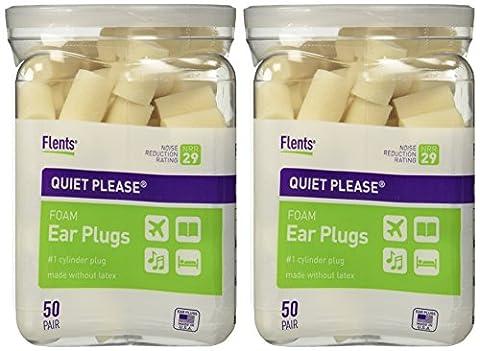 Flents par produits apothicaire Flents Quiet Please Bouchons D'oreille en mousse 50-pair (Lot de 2)