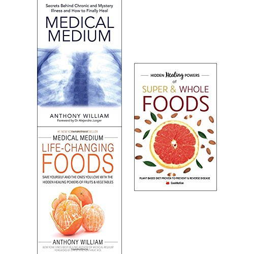 Medical Medium Anthony William Collection 2 Books Bundle With Gift Journal Medical Medium: Secrets Behind Chronic And Mystery Illness And How To Finally Heal, Medical Medium Life-Changing Foods: Save Yourself And The Ones You Love With The Hidden Healing