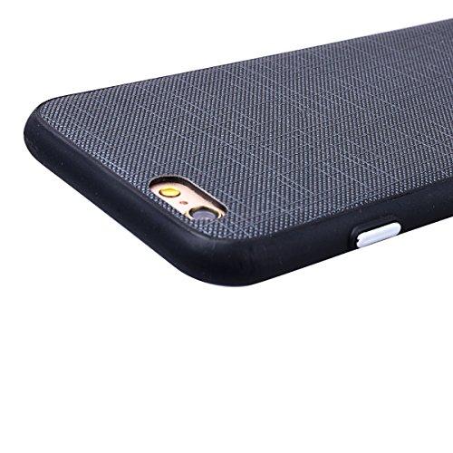 WE LOVE CASE iPhone 6 Plus / 6s Plus Hülle Weich Silikon iPhone 6 Plus 6s Plus Schutzhülle Handyhülle Im Retro Style Einfache Farbe Furnier Weiß Muster Handytasche Cover Case Etui Soft TPU Handy Tasch Schwarz