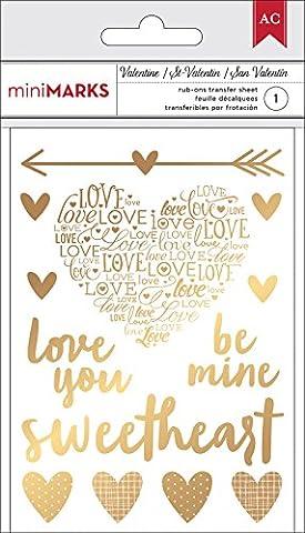 American Crafts Valentine Rub-Ons-Gold (Rub Ons Craft)