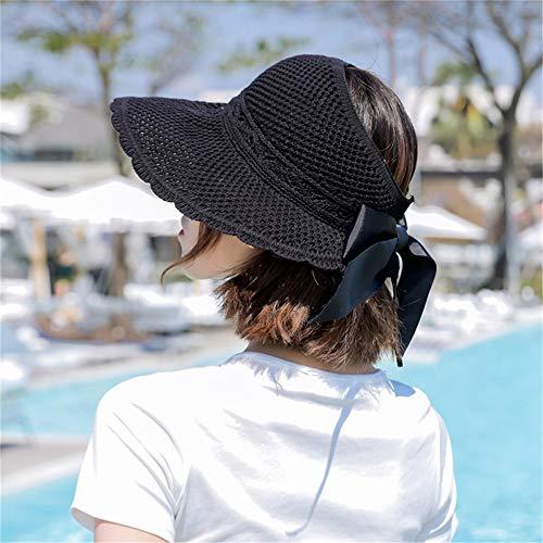 hat-maihef Klappvisier Bogen Welle kann Fischer Hut im Freien Spielen Strand Hut Tamper Net Cap schwarz Code Rollen (Matrosen Hüte In Der Masse)