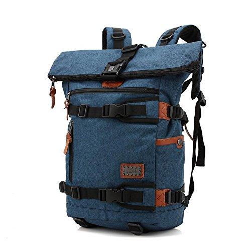 Z&N Backpack Vielseitig stilvolle Umhängetasche Rucksack kreative Freizeit Natur Reisen Wandern Camping Rucksack tragbare Outdoor-Lieferungen blue