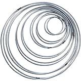 SERWOO 14 Piezas Anillos de Metal Artesanio Aros de Metal para Atrapasueños, 7 Tamaños (