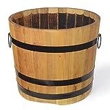 Holzfass, Pflanzkübel, Robinie geölt Ø 60 x H 50 cm, 92 Liter