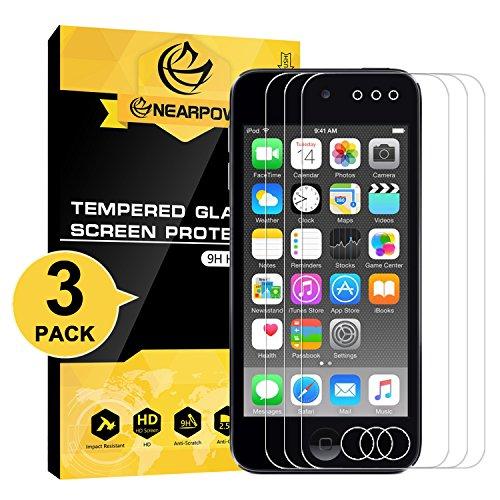 NearPow [3 Stück] Kompatibel mit Panzerglas Displayschutzfolie iPod Touch 6th / 5th Gen, Schutzfolie 9H Härte, Anti-Kratzen, Anti-Öl, Anti-Bläschen, Anti-Fingerabdruck - Ipod Touch Handy