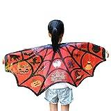 Yesmile Kinder Halloween Kleidung Kinder Halloween Chiffon Flügel Poncho Schal Kostüm Zubehörteil Robe Halloween Kostüm-C