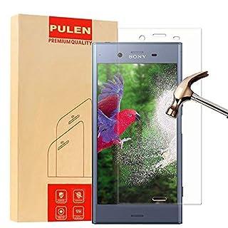 PULEN Sony Xperia XZ1 Panzerglas Schutzfolie, Panzerglasfolie Folie Displayschutzfolie Hartglas, 3D Coverage,0,33mm Dünn, 9H Härtegrad, Anti-Kratzen Lebenslange Garantie (Transparent)