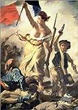 Posterlounge Alu Dibond 90 x 130 cm: Die Freiheit führt Das Volk, Detail von Eugene Delacroix/Bridgeman Images