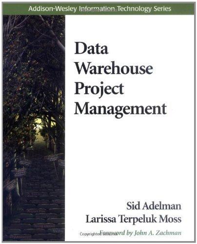 Data Warehouse Project Management by Sid Adelman (2000-09-24) par Sid Adelman;Larissa T. Moss
