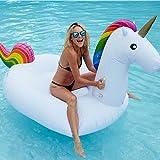 Juguete hinchable flotante gigante del unicornio Piscina Cama flotante Unicornio General y adulto y anillo de la natación del niño y silla de la recreación del agua Llama del dragón (Pequeña)