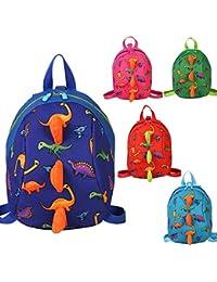 Preisvergleich für Freitop Kinderrucksack Anti Verloren Dinosaurier mit Brustgurt ab 1 Jahre Schulrucksack Rucksack Schulranzen Kindergartentasche...