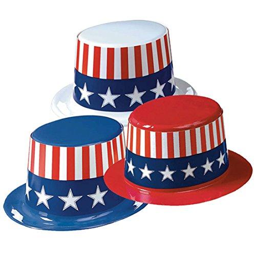 Halloweenia - USA Hut, American Style, Independence Day, 28cm x 25cm x 12cm, Mehrfarbig